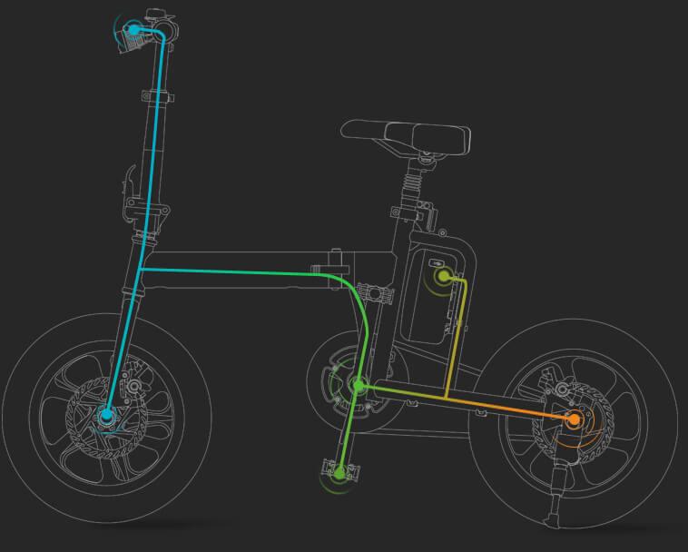 bug de la ville de scooter électrique
